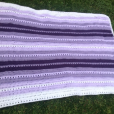 criss-cross baby blanket